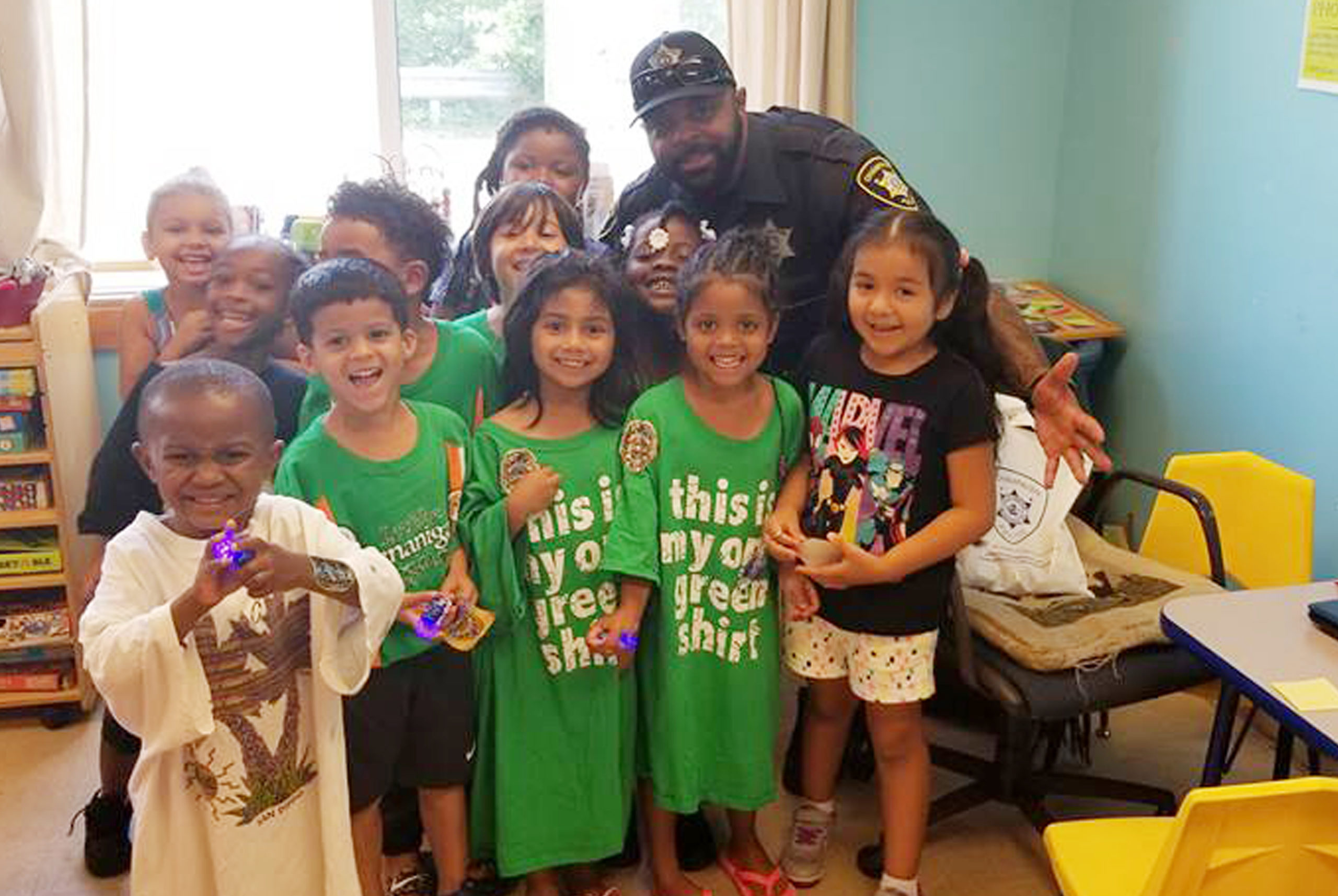 Police Officer with group of children