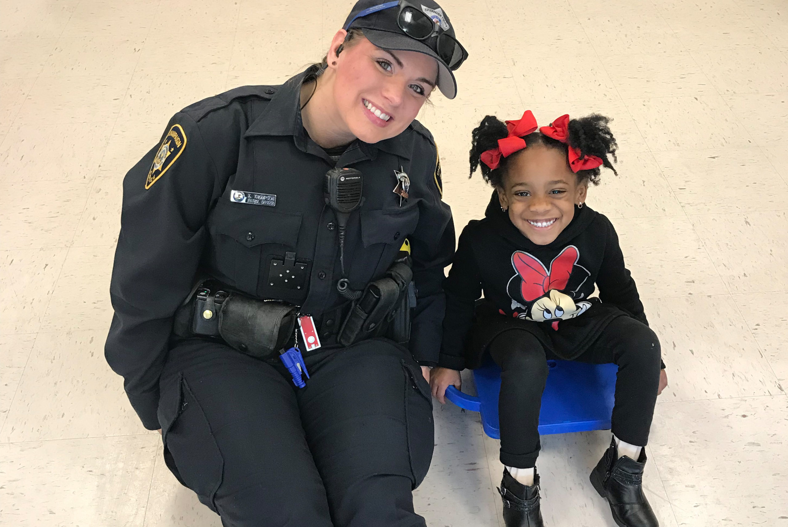 Police Officer with child