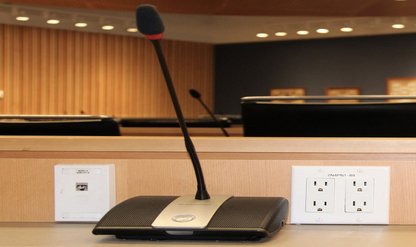 Microphone at desk